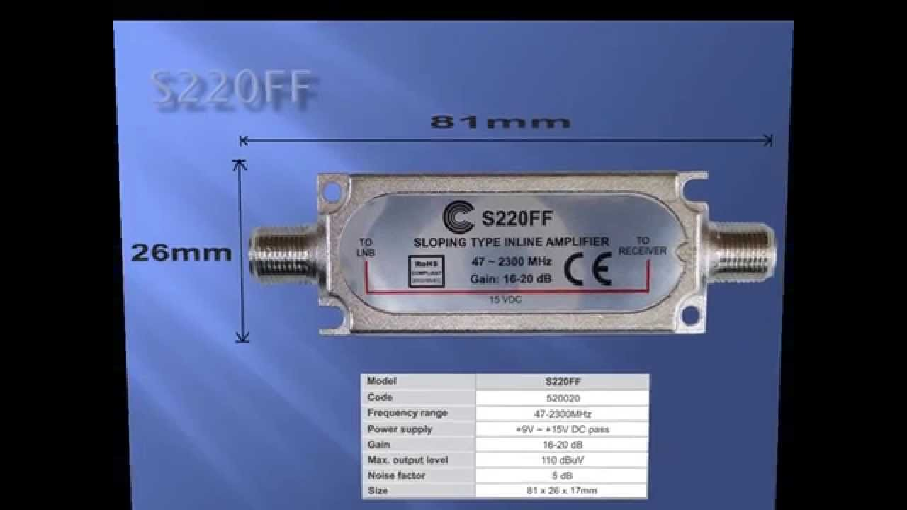 In Line Satellite Amplifier S220ff With Installation