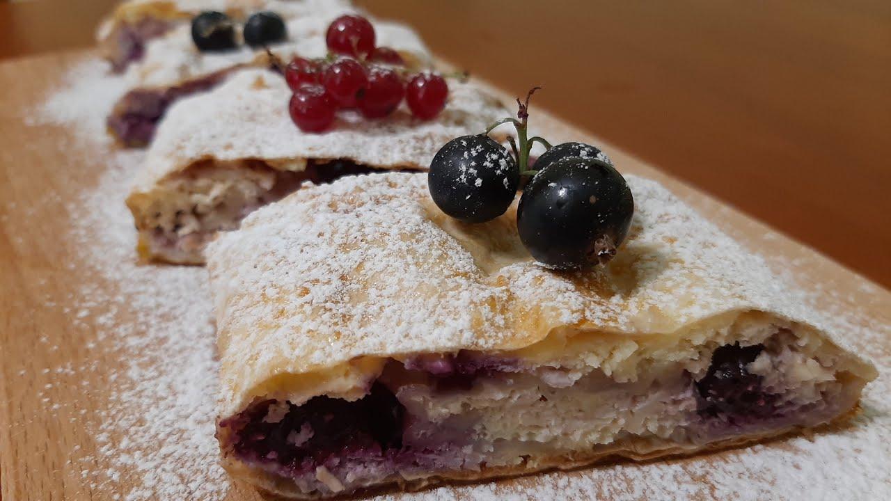 Вкусный десерт. Творог, смородина и кое-что еще. Обязательно приготовьте.