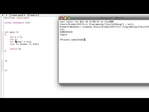 Undefined and uninitialized variables (C++ programming tutorial)