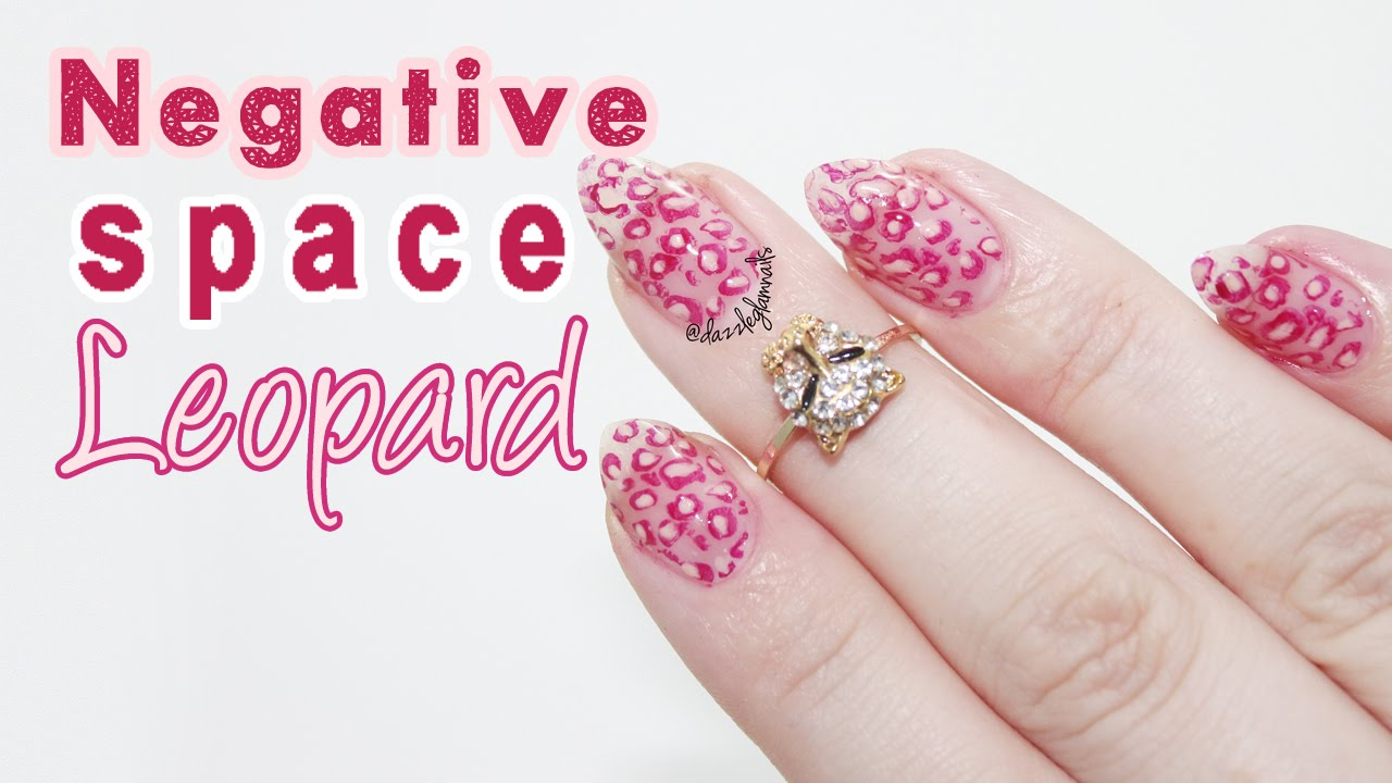Negative Space Leopard Nails Tutorial | + New Nail Shape - YouTube