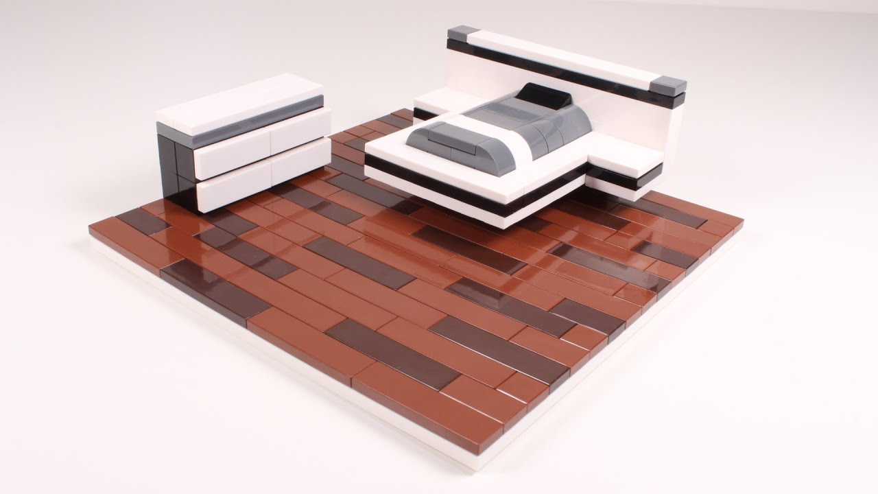 Lego Bedroom Furniture how to build a lego modern bed set - youtube