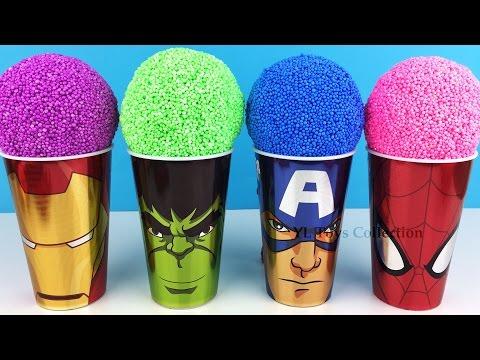 Marvel Avengers Foam Surprise Iron Man Hulk Captain America Spider-Man with Mr Potato Head