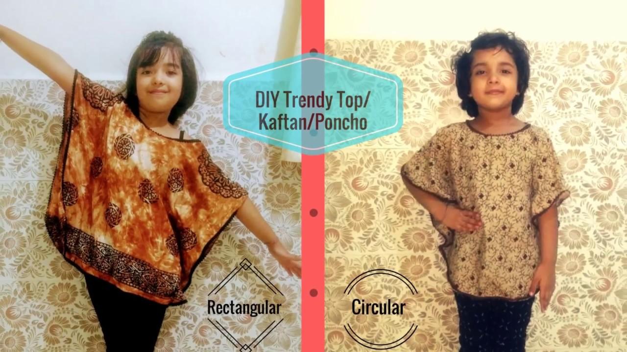 98515e07ec DIY Kaftan top & Circular Top | Super Easy Tops for Kids Tutorial | How to  sew Trendy tops for kids