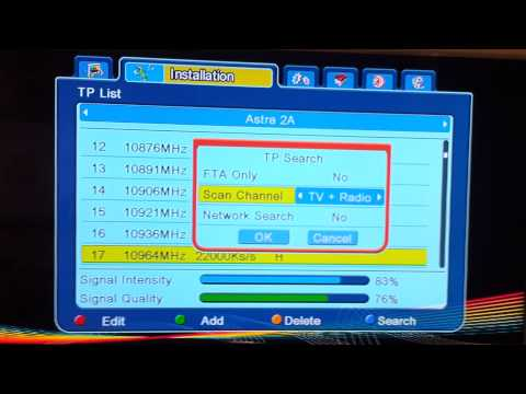 Free to air channels missing