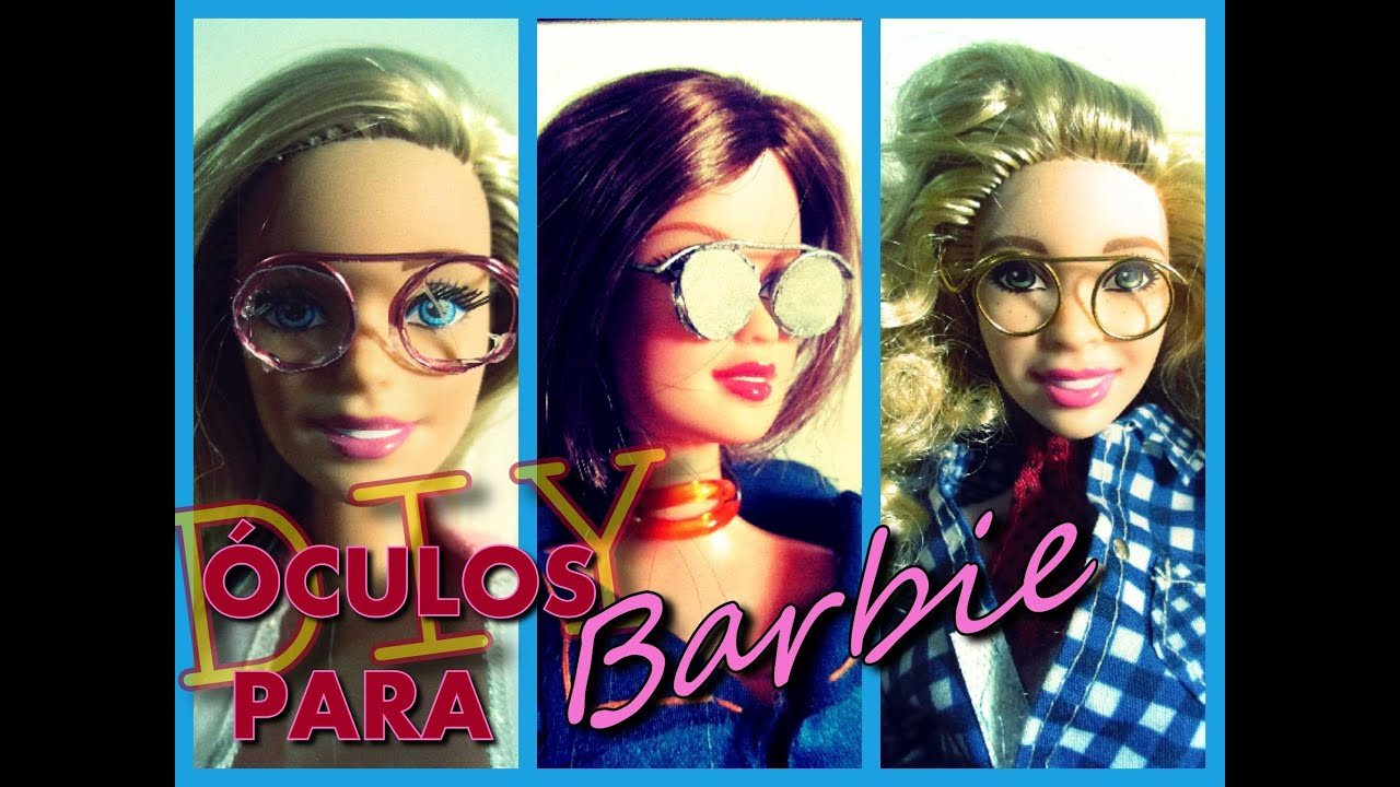 47233e021 DIY ÓCULOS PARA BARBIE/ MAKE BARBIE GLASSES- MIDGE FREITAS - YouTube