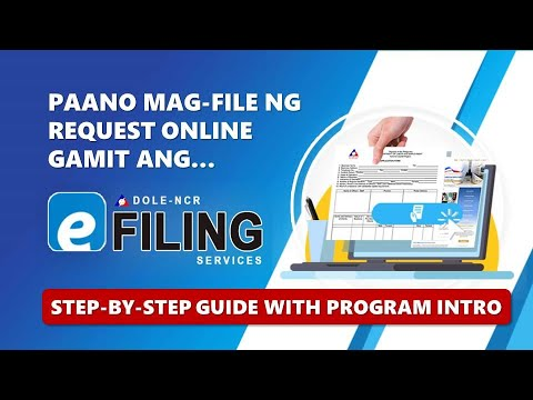 DOLE-NCR e-Filing Services Instructional Video (long version with Program Intro)