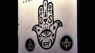 Drawing The Hamsa Symbol - Hand of Fatima