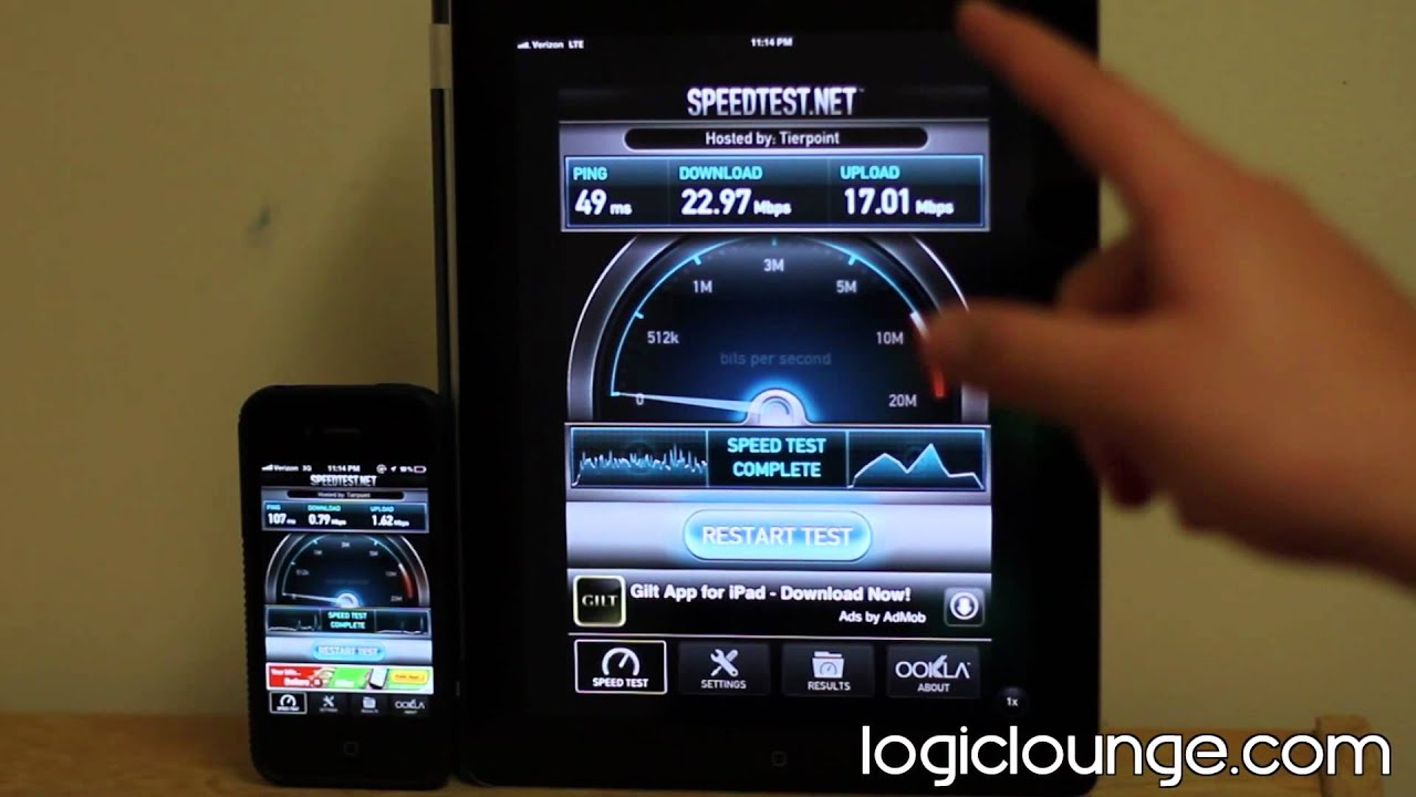 3g speed test app iphone