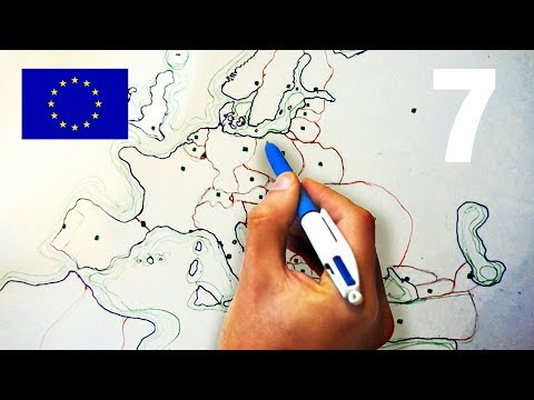 ASMR Drawing Map of Europe - Soft Spoken - With Cough Drop