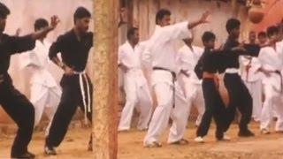 Karate Trainning Scene   Lady Bruce Lee   Malayalam Movie Scene
