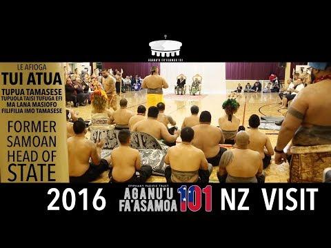 LE AFIOGA TUI ATUA TUPUA TAMASESE (FORMER SAMOAN HEAD OF STATE) 2016 AF101 NZ VISIT