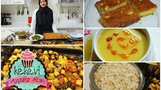 Bir Saatte İftar Menüsü Nasıl Hazırlanır? / Çorba Yemek Tatlı Pilav | Ayşenur Altan Yemek Tarifleri