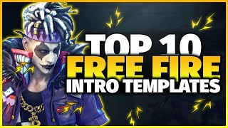 Top 10 Free Fire Intro Without Text | Gaming Intro for PC/Mobile | Free Download