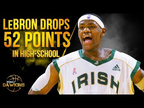 18 Years Old LeBron James Drops 52 Points On Trevor Ariza in High School | SQUADawkins