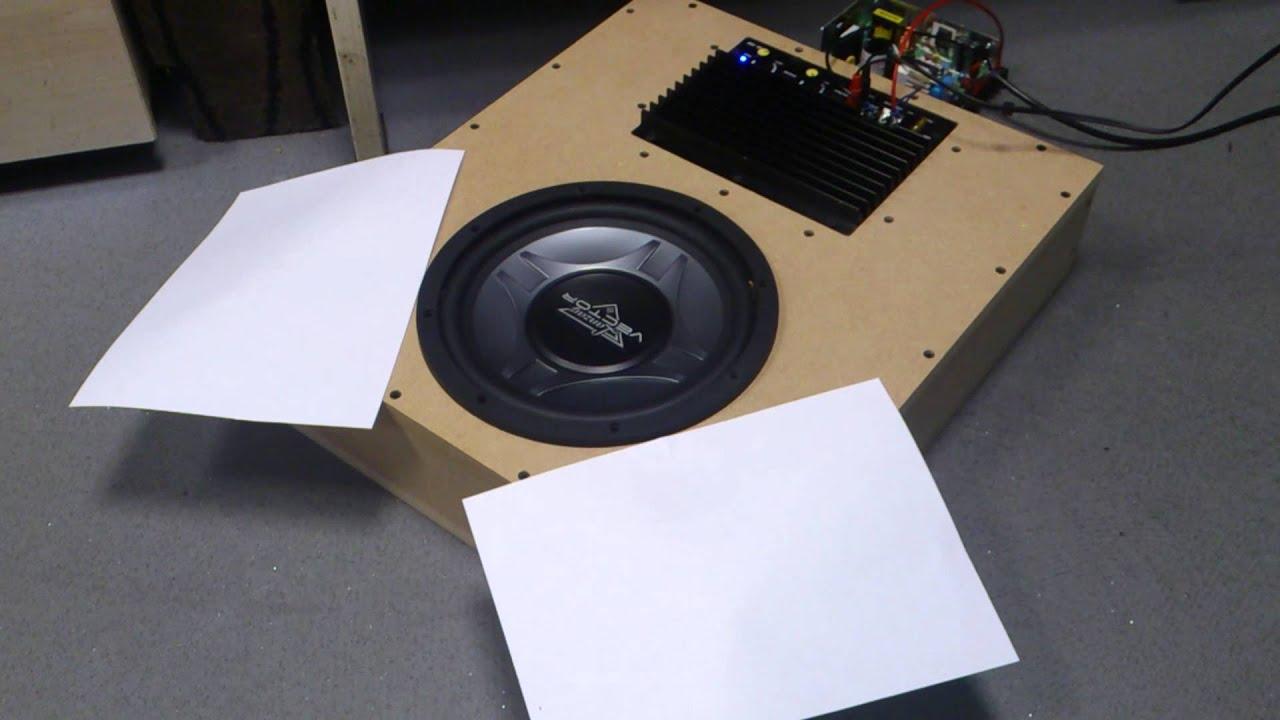 Underseat Subwoofer Box Empty Dual 12 Sub Speaker Vibe Optisound Auto 8 Wiring Diagram Test Youtube