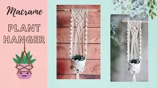 Macrame tutorial - Plant hange…