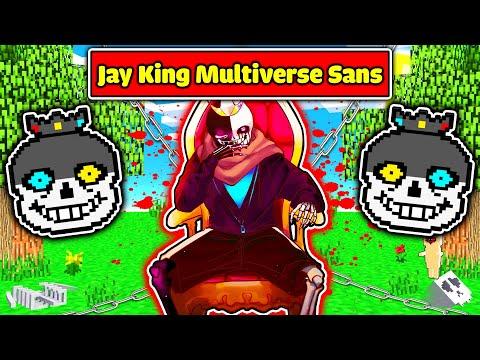JAYGRAY CHẾ TẠO THÀNH CÔNG BỘ GIÁP KING MULTIVERSE SANS CỰC NGẦU TRONG MINECRAFT*JAY SANS VUA VŨ TRỤ
