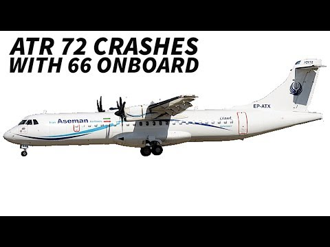 Aseman Airlines ATR 72 Crashes in Iran killing 66