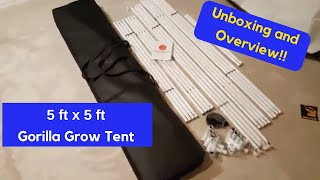 Gorilla Grow Tent (5 x 5) unpacking & overview | Hobby Bobby