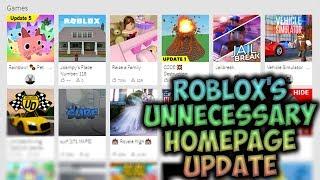 ROBLOX's Unnecessary Homepage Update