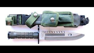 Обзор китайской копии штык ножа М9 Барракуда,и мое мнение о холодном оружии вообще.