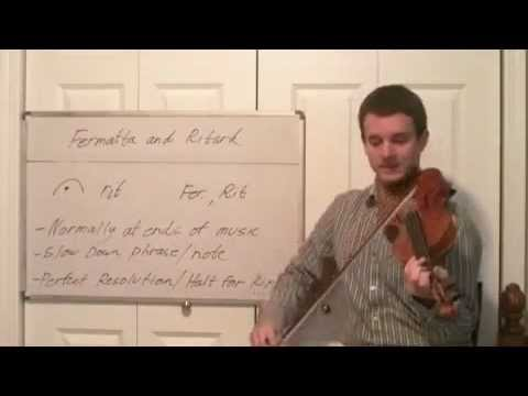 Learn How To Play Fermatta and Ritardando - Intro to Music Violin Terms