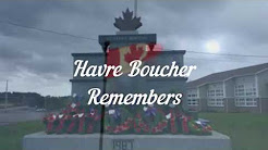 Havre Boucher Remembers 2017