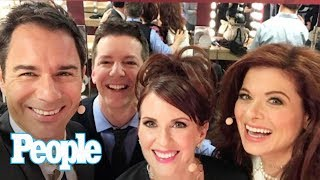 Will & Grace's Debra Messing & Megan Mullally Officially Kick Off First Taping | People NOW | People