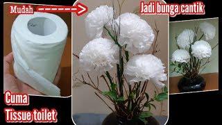 Cara membuat Bunga dari Tissue gulung (step by step )