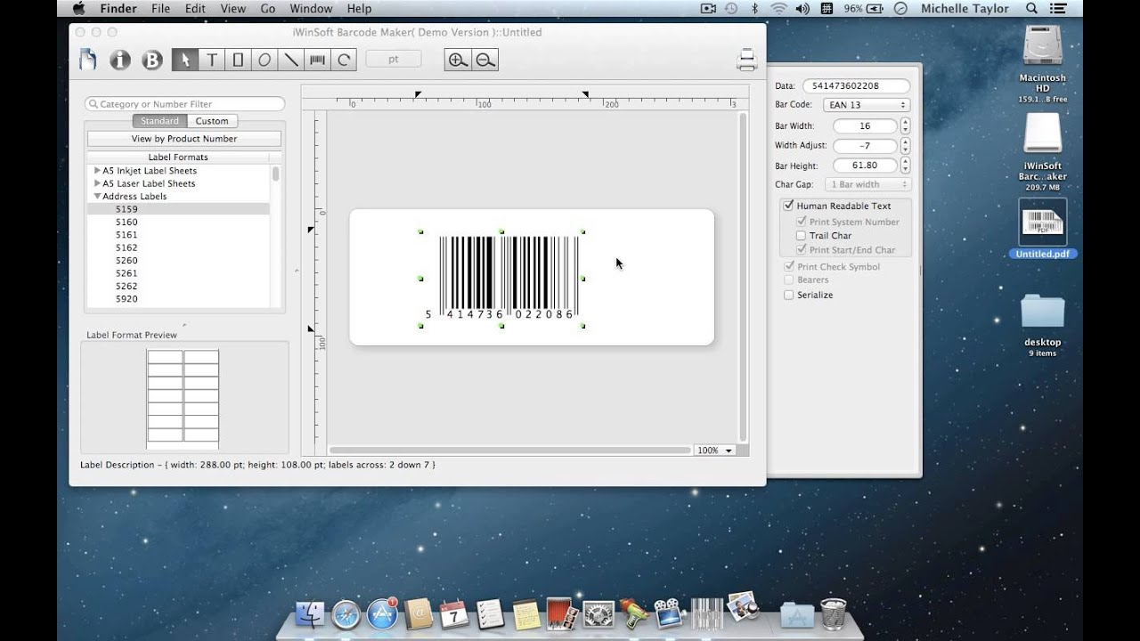 How To Create Ean 13 Barcode On Mac With Ean 13 Barcode Software