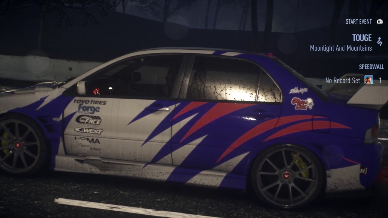 need for speed mitsubishi lancer evo ix 1100hp custom paint 1