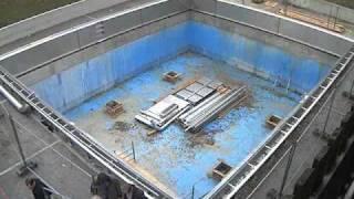 Zeitraffer Aufnahme: Sanierung Sprungturm Freibad Freising