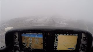 mvfr approach turns to low ifr   cirrus sr22   flying in the mountains