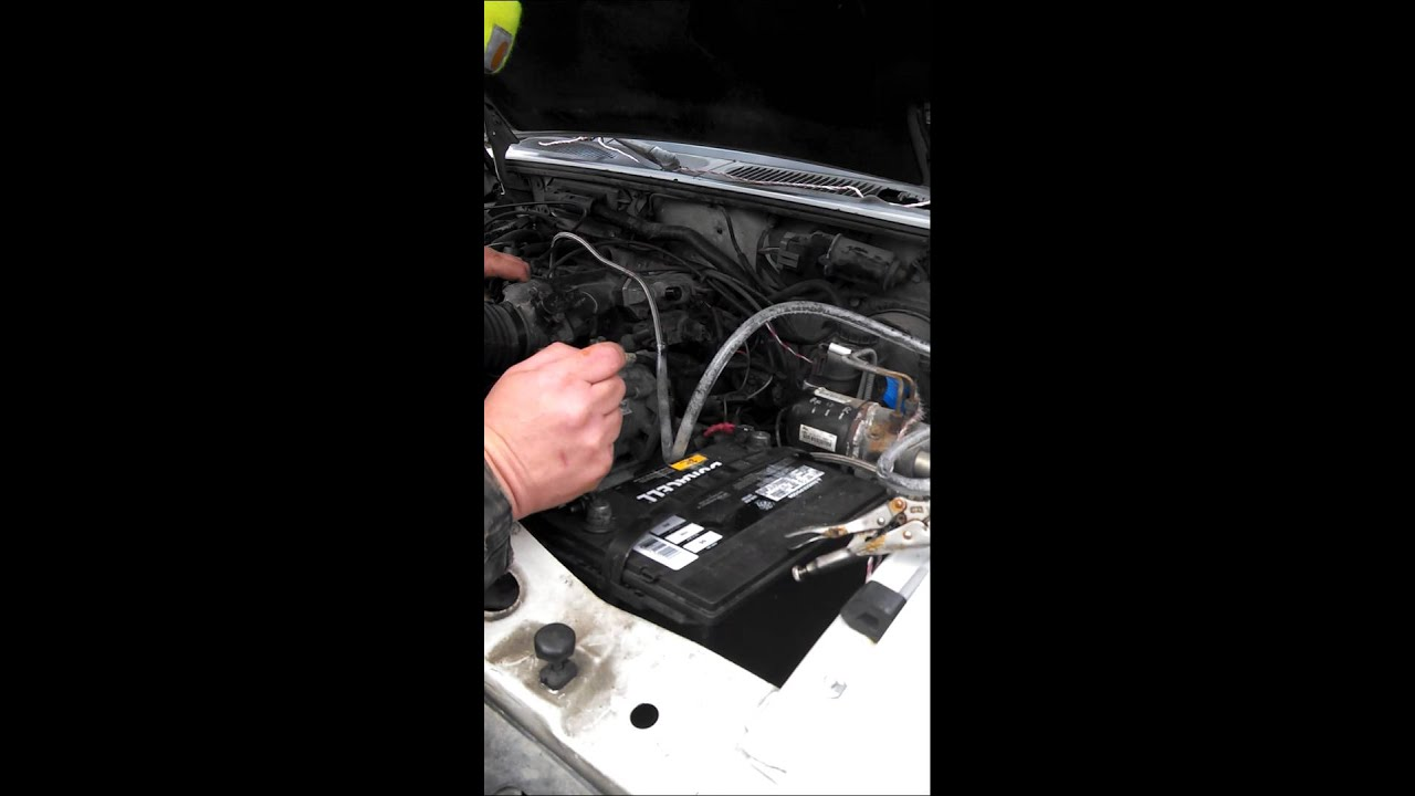 hight resolution of draining the fuel in 1996 ford explorer