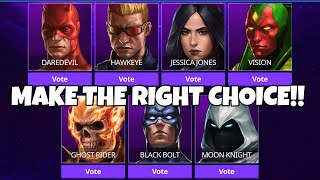 MAKE THE RIGHT CHOICE!! | Marvel Future Fight