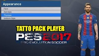 [PES2017] How install Tatto pack PES 2017 compatible PTE 4.0 (link on description)