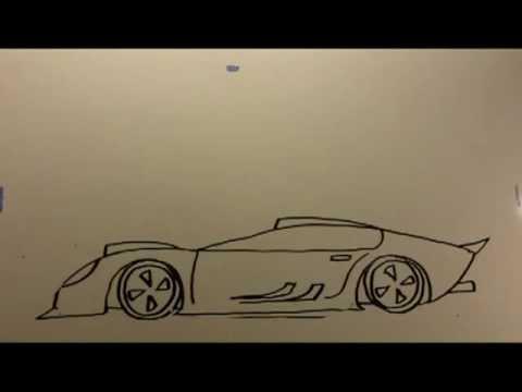 How to Draw Cartoon PHANTOM CAR the EZ way