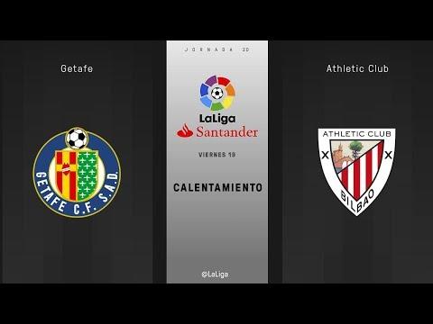 Calentamiento Getafe vs Athletic Club