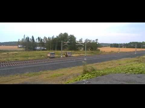 Finnish Pendolino passing by at 220 km/h