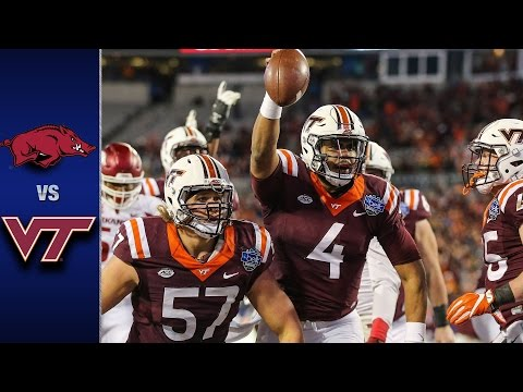 Virginia Tech vs. Arkansas Belk Bowl Highlights (2016)