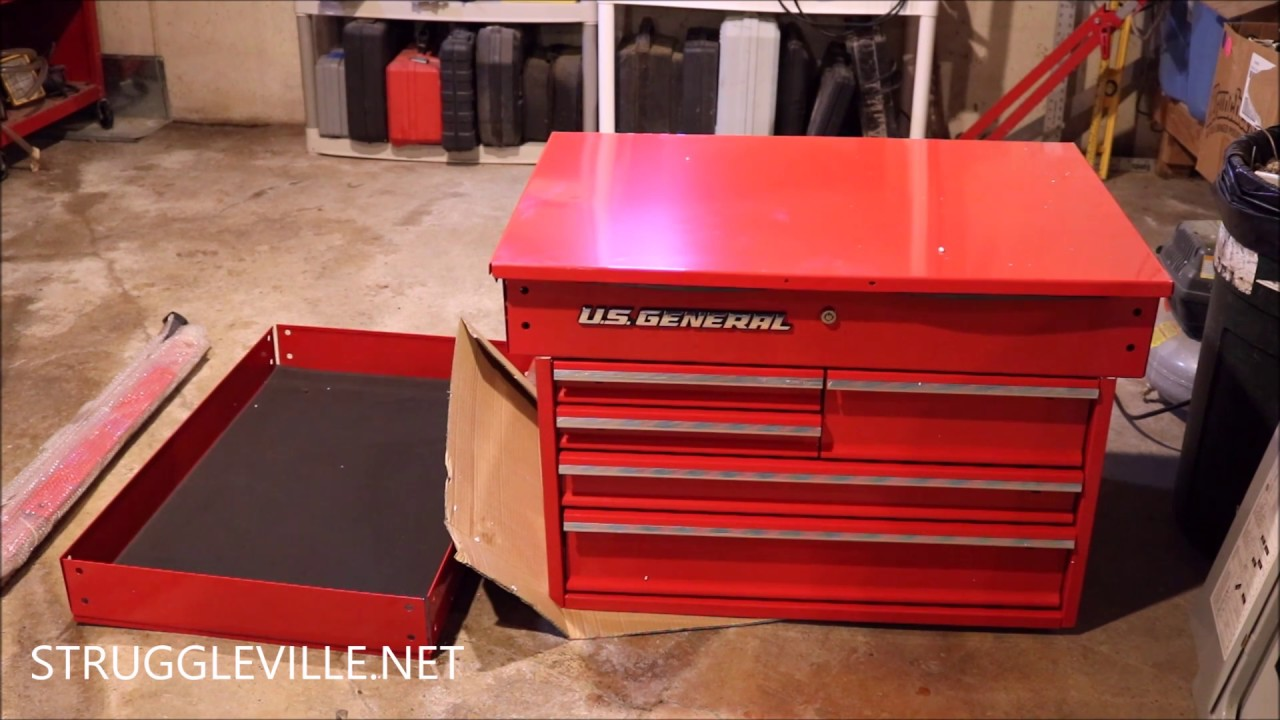 Harbor Freight 5 Drawer Mechanic S Cart Build Initial Review