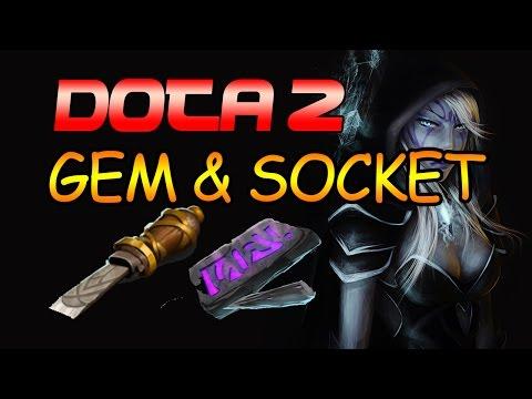 Dota 2: How To Socket Gems (2017)