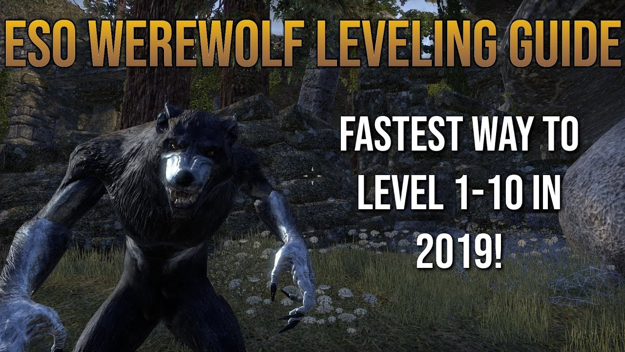ESO Werewolf Leveling Guide | Level 1-10 in Less Than 20 Minutes!