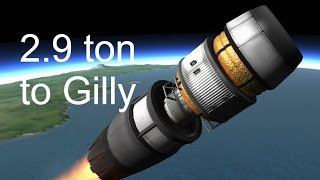 2.9 ton rocket to Gilly and back - KSP