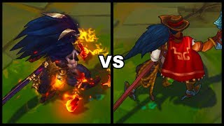 Nightbringer Yasuo vs High Noon Yasuo Skins Comparison (League of Legends)