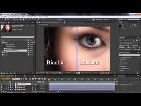 Set scaling quality using Bicubic Sampling Learn After Effects CC ...