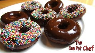 Oven Baked Chocolate Donuts - Recipe