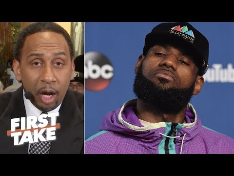 Stephen A. Smith sends warning to LeBron James about possibly joining Warriors | First Take | ESPN