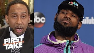 Stephen A. Smith sends warning to LeBron James about possibly joining Warriors | First Take | ESPN thumbnail