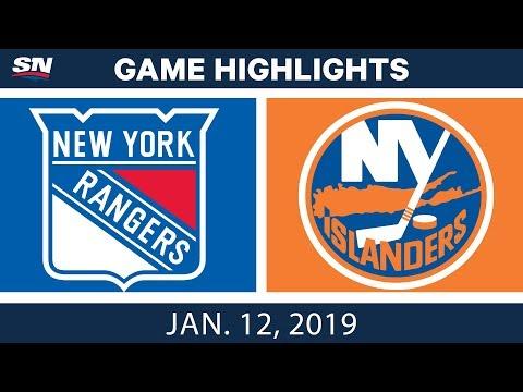 NHL Highlights | Rangers vs.  Islanders - Jan.  12, 2019